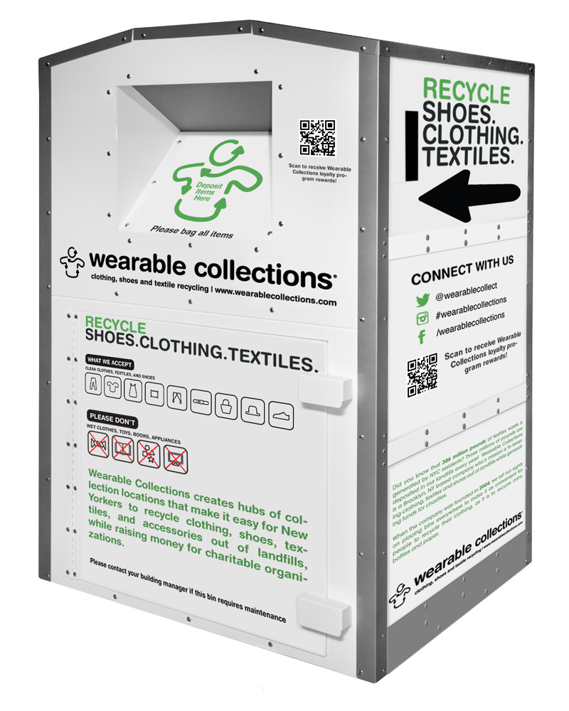 Recycle clothing, shoes and textiles in your residential building - Wearable Collections